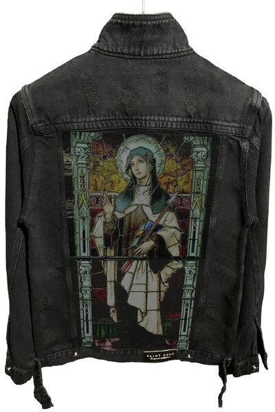 Jaqueta Jeans Destroyed Preta Catolic