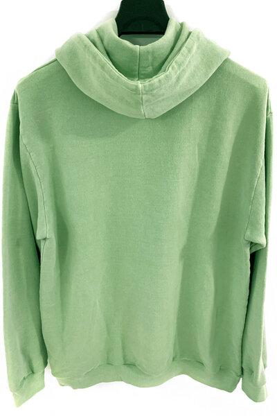 Blusa de moletom estonado verde Skull