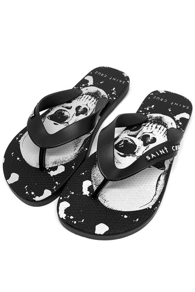 Chinelo basic Double Skull (Preto)
