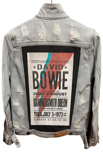 Jaqueta Jeans Rock Destroyed Cru Masculina David Bowie