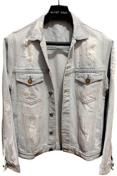 Jaqueta Jeans Destroyed Cru Bob Dylan