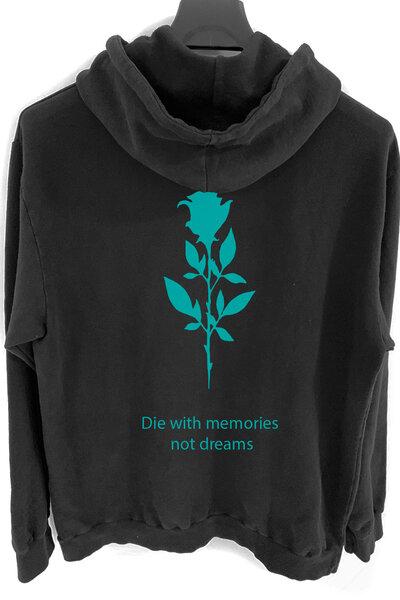 Blusa de moletom preto Memories