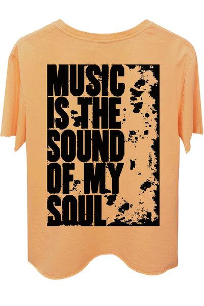 Camiseta estonada salmão My Soul