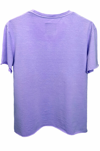 Camiseta estonada lilás Cross