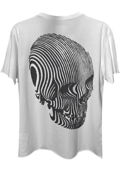 Camiseta com bolso branca Stripes