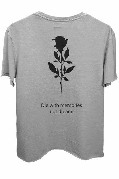 Camiseta estonada cinza clara Memories