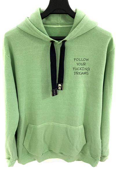 Blusa de moletom estonado verde Dreams (Front)