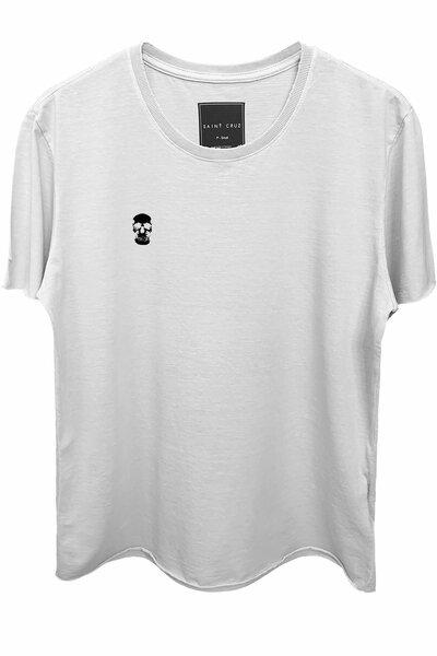 Camiseta branca Skull (Preto)