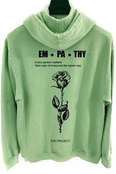 Blusa de moletom estonado verde Empathy