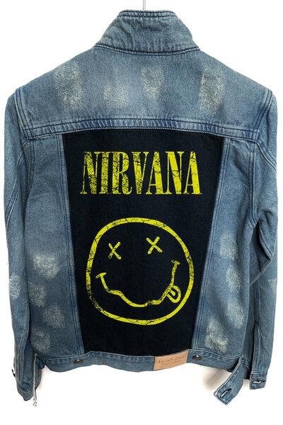 Jaqueta Jeans Destroyed Tradicional Masculina Nirvana