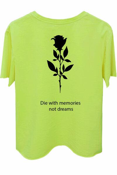 Camiseta estonada amarela Memories