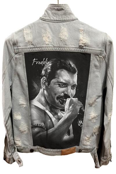 Jaqueta Jeans Destroyed Cru Masculina Freddie