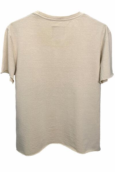 Camiseta estonada areia Vert