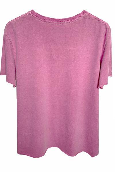 Camiseta estonada vinho Rose