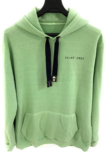 Blusa de moletom estonado verde Tell Me
