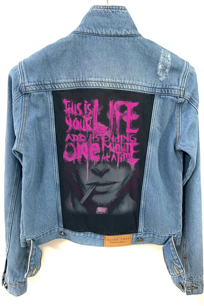 Jaqueta Jeans Destroyed Tradicional Feminina Your Life