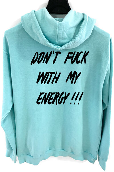 Blusa de moletom estonado azul Energy