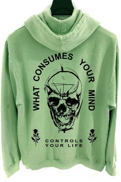 Blusa de moletom estonado verde Controls