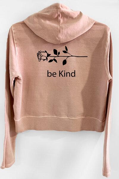 Blusa de moletom estonado rose Feminino Be Kind