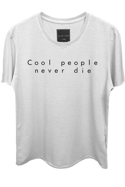 Camiseta branca Never Die (Preto)