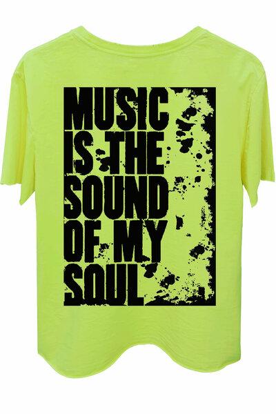 Camiseta estonada amarela My Soul