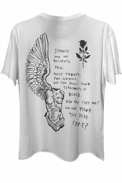 Camiseta com bolso branca Strange