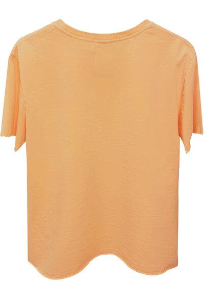 Camiseta estonada salmão Rose