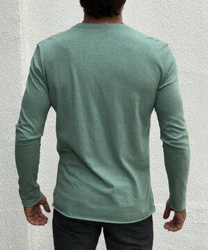 Camiseta Manga Longa Linho Organic Verde