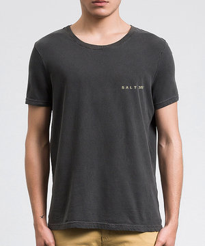 Camiseta Básica Estonada Chumbo