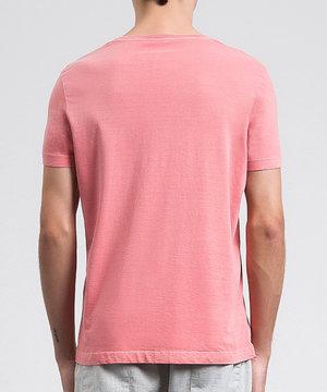 Camiseta Básica Estonada Goiaba