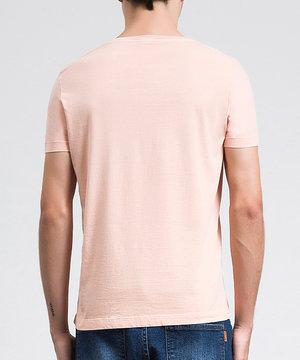Camiseta Básica Estonada Papaya