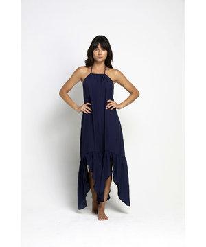 Vestido Assimétrico Azul Marinho Laura