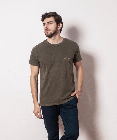 Camiseta Básica Estonada Olive