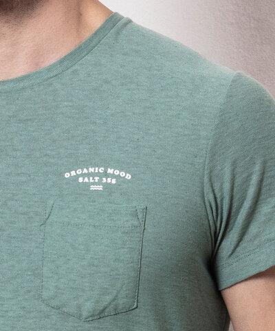 Camiseta Linho Bolso