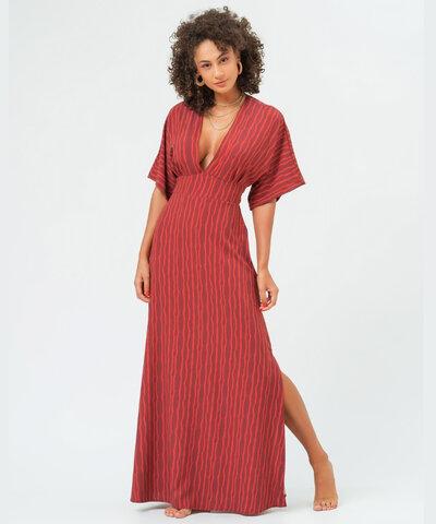 Vestido Kimono Zebra Vermelho Mariana
