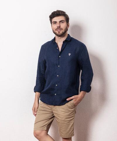 Camisa Linho Aqua