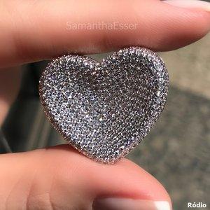 Colar Coração Abaulado Côncavo