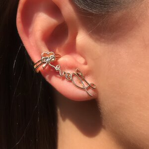 Brinco Ear Cuff Palavras