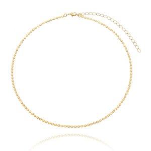 Choker Mini Bolinhas diamantadas ouro 18k