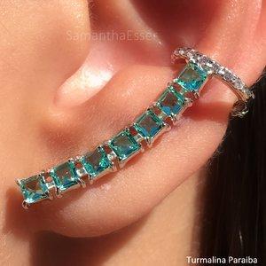 Ear Cuff Mini Quadradinhos - RÓDIO