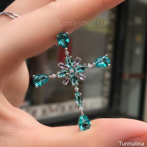 Colar Crucifixo Pedras - RÓDIO