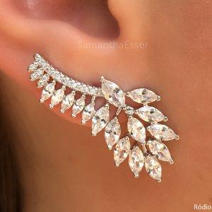 Ear Cuff Cristais Navetes Lux