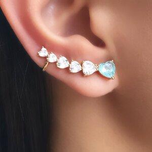 Ear Cuff Multi Corações - OURO 18K
