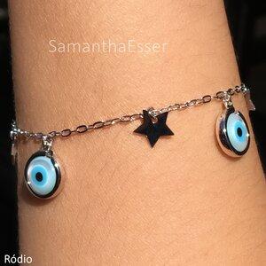 Pulseira Olho Grego e Estrela