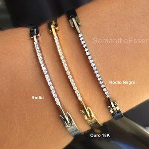 Bracelete Fino com Zircs