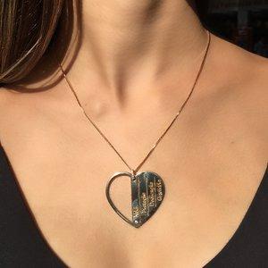 Colar Coração Mães - OURO 18K