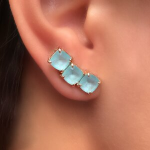 Ear Cuff 3 Quadradinhos