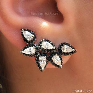 Ear Cuff Gotas Cravejadas