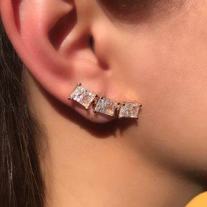 Ear Cuff 3 Retângulos