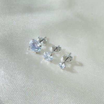 Brinco Trio de Ponto de Luz Lapidação Diamante